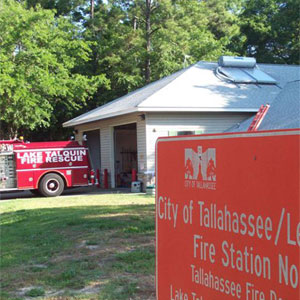 Tallahassee Fire Department is getting hot water by Ezinc Solar Water Heaters